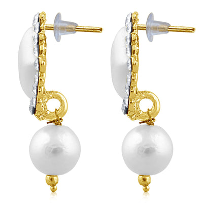 Sukkhi Shimmering Pearl Gold Plated Set of 3 Pair Drop Earring Combo For Women-7