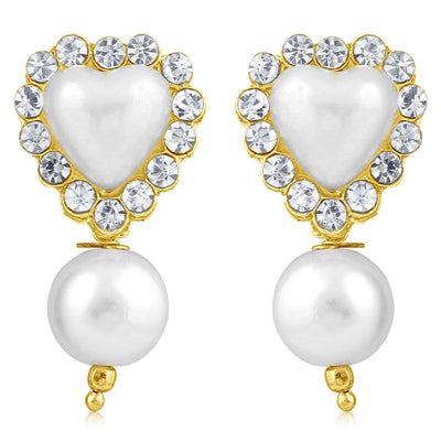 Sukkhi Shimmering Pearl Gold Plated Set of 3 Pair Drop Earring Combo For Women-8