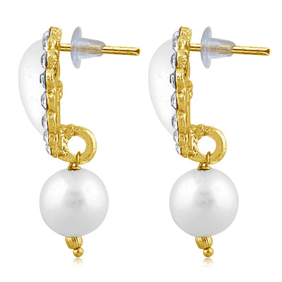 Sukkhi Shimmering Pearl Gold Plated Set of 3 Pair Drop Earring Combo For Women-10