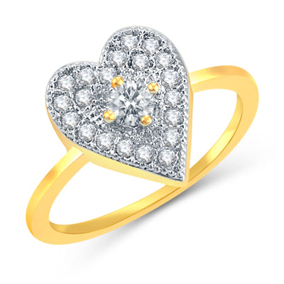 Sukkhi Alluring Gold Plated CZ Set Of 4 Ring Combo For Women-3
