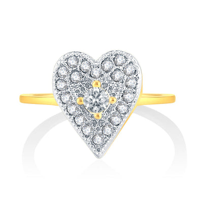 Sukkhi Alluring Gold Plated CZ Set Of 4 Ring Combo For Women-4