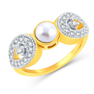 Sukkhi Alluring Gold Plated CZ Set Of 4 Ring Combo For Women-7