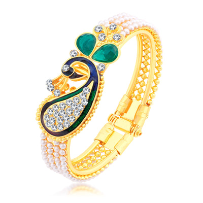 Sukkhi Valentine Collection Glimmery Peacock Gold Plated CZ Combo For Women Pack Of 5-7