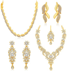 Sukkhi Fascinating Gold Plated AD Combo For Women Pack Of 2