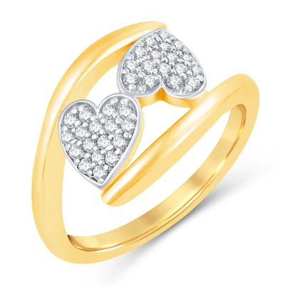 Sukkhi Valentine Collection Incredible Gold Plated CZ Combo Ring For Women Pack Of 4-1