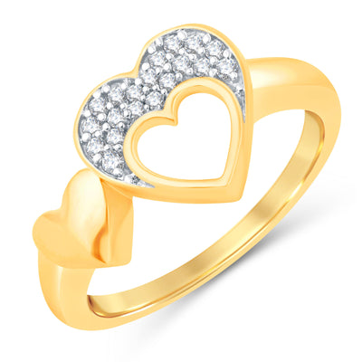Sukkhi Valentine Collection Incredible Gold Plated CZ Combo Ring For Women Pack Of 4-2