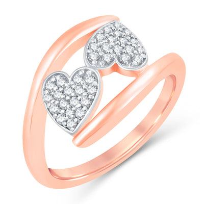 Sukkhi Valentine Collection Modish Rose Gold Plated CZ Combo Ring For Women Pack Of 4-1