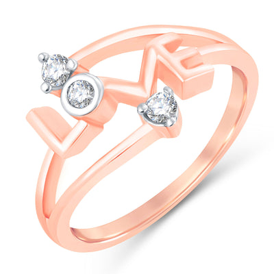 Sukkhi Valentine Collection Modish Rose Gold Plated CZ Combo Ring For Women Pack Of 4-3