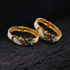 Sukkhi Ritzy Peacock Gold Plated AD Combo Kada For Women Pack Of 2 - Free Size