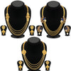 Sukkhi Trendy 4 String Gold Plated Necklace Set Combo For Women (Set of 3) - Title