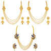 Sukkhi Trendy 4 String Gold Plated Necklace Set Combo For Women (Set of 3)
