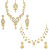 Sukkhi Classic AD Gold Plated Necklace Set Combo (Set of 2)