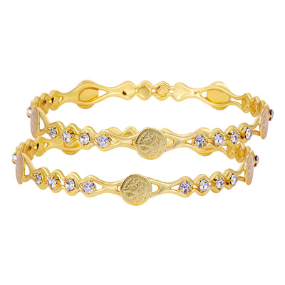 Sukkhi Sensational Gold Plated Bangle Set for Women (Set of 12)
