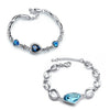 Sukkhi Lovely Crystal Rhodium Plated Bracelet Combo For Women