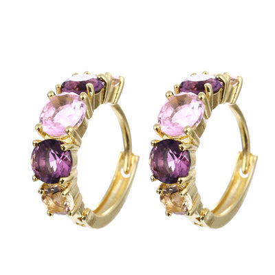Sukkhi Equisite Crystal Gold Plated Floral Earring Combo For Women
