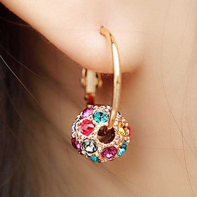 Sukkhi Exotic Crystal Gold Plated Floral Earring Combo For Women
