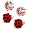 Sukkhi Floral Crystal Gold Plated Floral Earring Combo For Women