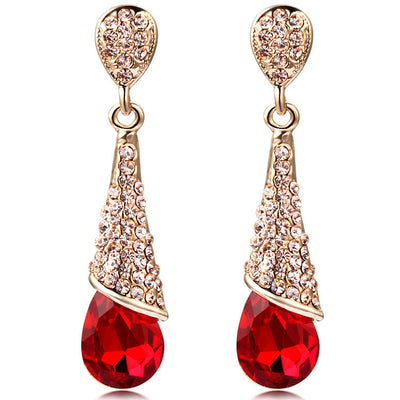Sukkhi Gorgeous Crystal Rhodium Plated Floral Earring Combo For Women