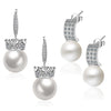 Sukkhi Gorgeous Pearl Rhodium Plated Floral Earring Combo For Women