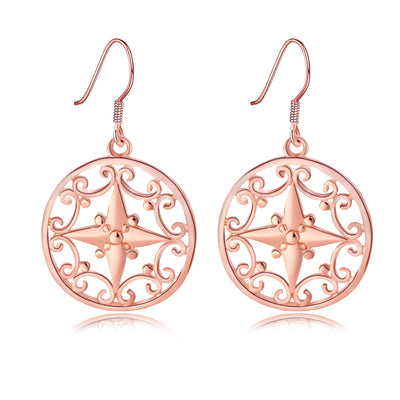 Sukkhi Classy Pearl Rose Gold Plated Earring Combo For Women