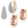 Sukkhi Graceful Crystal Gold Plated Floral Earring Combo For Women