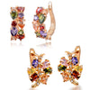 Sukkhi Attractive Crystal Rose Gold Plated Floral Earring Combo For Women