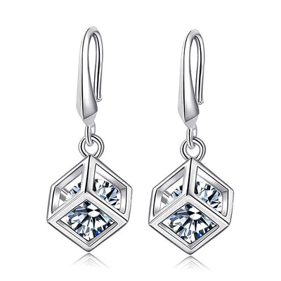 Sukkhi Modish Crystal Rhodium Plated Floral Earring Combo For Women