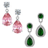 Sukkhi Astonish Crystal Rhodium Plated Floral Earring Combo For Women