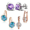 Sukkhi Charming Crystal Rose Gold Plated Floral Earring Combo For Women