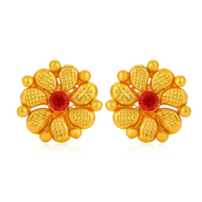 Sukkhi Exclusive Pearl Gold Plated Floral Earring Combo For Women