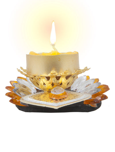 Sukkhi Best selling Diyaa Candle in yellow-1