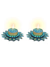 Sukkhi Best Selling Floral Candle Diya in Blue