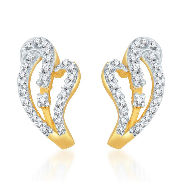 Pissara Marvellous Gold and Rhodium plated CZ Earrings