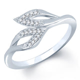 Pissara Lavish Rhodium plated CZ Studded Ring