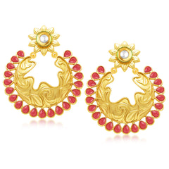Sukkhi Ritzy Gold Plated Chandbali Earring For Women
