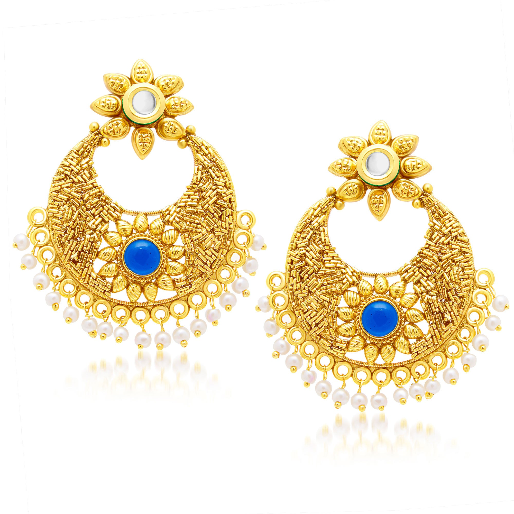 a3ab1fabce874 Sukkhi Stunning Gold Plated Chandbali Earring For Women