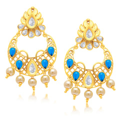 Sukkhi Angelic Gold Plated Chandbali Earring For Women