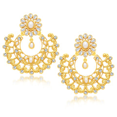 Sukkhi Gorgeous Gold Plated Chandbali Earring For Women