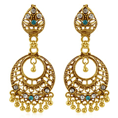 Sukkhi Glimmery Gold Plated Chandbali Earring For Women