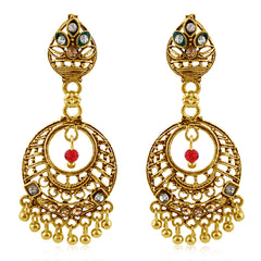 Sukkhi Pleasing Gold Plated Chandbali Earring For Women