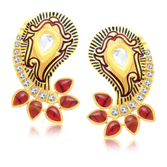 Sukkhi Delightful Gold Plated Stud Earring For Women