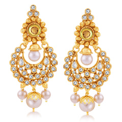 Sukkhi Stylish Gold Plated Chandbali Earring For Women