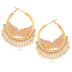 Sukkhi Glamorous Gold Plated Chandbali Earring For Women