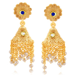 Sukkhi Stunning Jalebi Gold Plated Jhumki Earring For Women