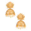 Sukkhi Modern Elephant Inspired Lotus Gold Plated Zhumki Earring