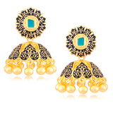 Sukkhi Beguiling Black Meenakari Black Zhumki Earring for Women