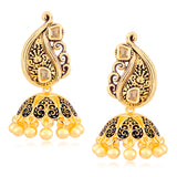Sukkhi Alluring Black Meenakari Black Zhumki Earring for Women
