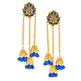 0203 Sukkhi Classic Gold Plated Zhumki Earring Set for women