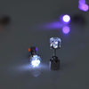 Sukkhi Trendy Round Shaped LED Colorful Party Dance Unisex Stud Earring