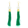 Sukkhi Youthful Fashion Green Tassel Earring for women